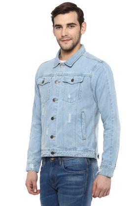 Mens Collared Mild Wash Jacket