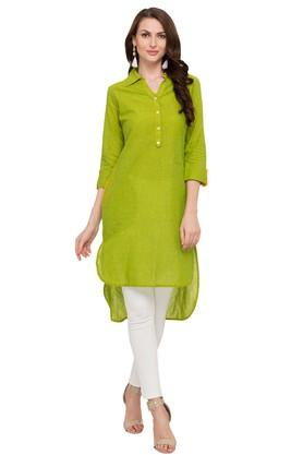 Womens Slub Casual Kurta