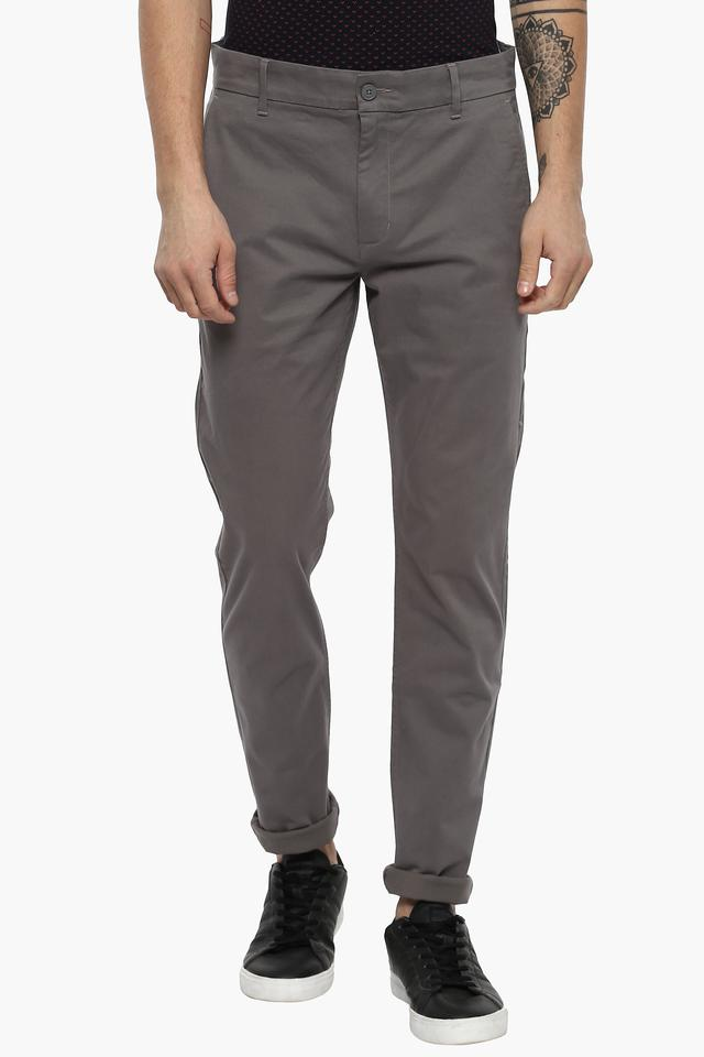 great variety styles great fit official store Mens Slim Tapered Fit 4 Pocket Solid Chinos (512)