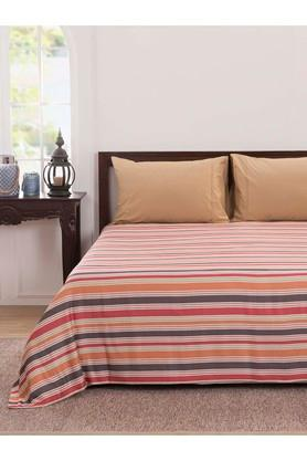Dwan Striped Double Bed Cover with 2 Pillow Cover