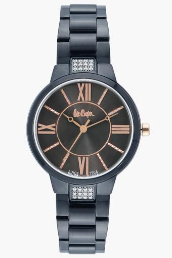 Womens Analogue Black Dial Metallic Watch - LC06477650