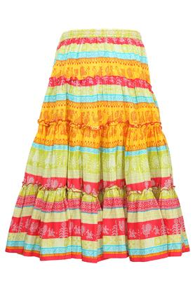 Girls Printed Long Skirt