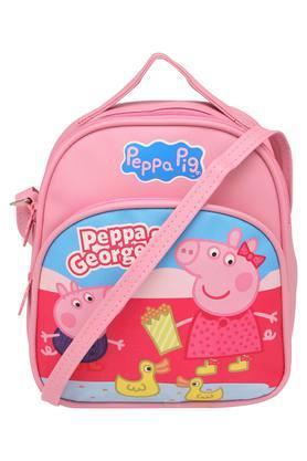 Unisex Zipper Closure Peppa Pig and George Pig Sling Bag