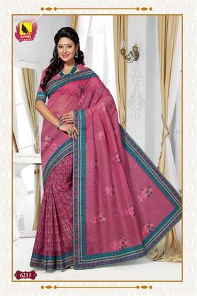 ASHIKA Womens Embroidered Saree With Blouse Piece - 204577043_9551
