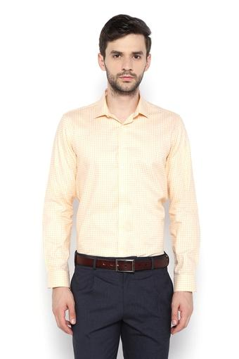 Mens Regular Fit Slim Collar Check Shirt