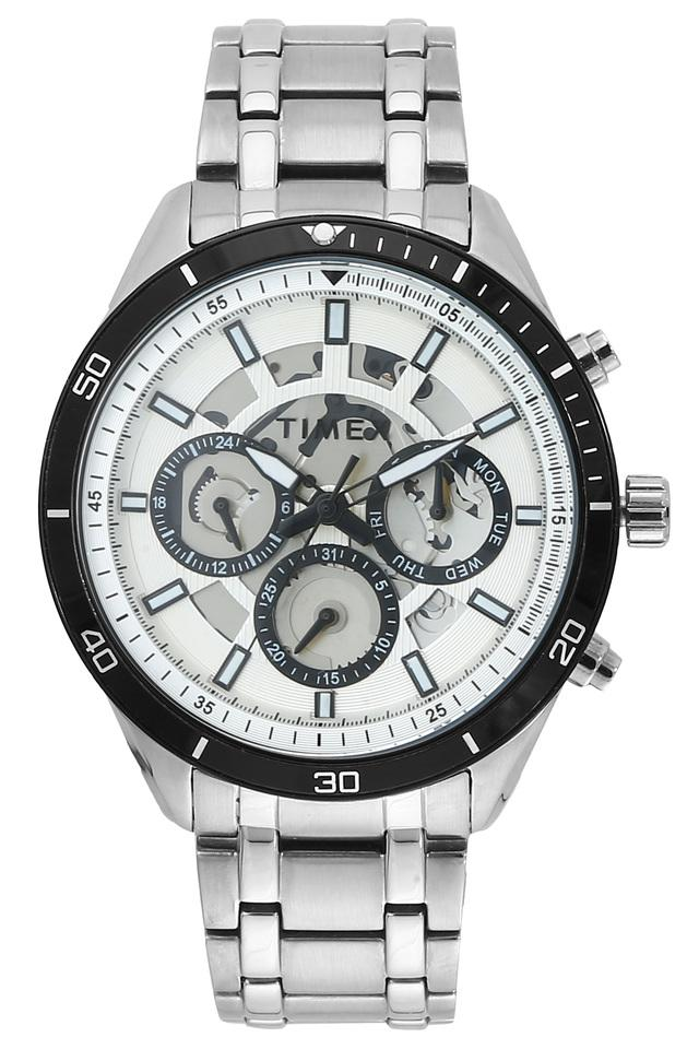 Mens Off-White Dial Chronograph Watch