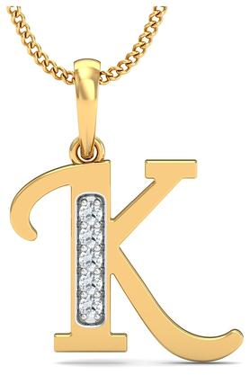 P.N.GADGIL JEWELLERS Womens The 'K' Diamond Pendant DJPD-71