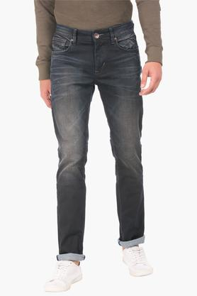 FLYING MACHINEMens Slim Fit Heavy Wash Jeans (Micheal Fit) - 202896820