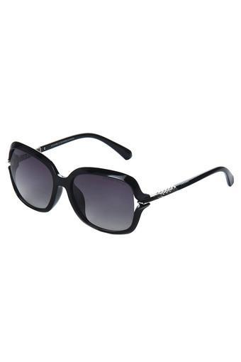 Womens Full Rim Polarized Lens Square Sunglasses - AZ60018C021