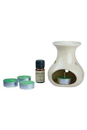 IRISFragrance Apple Cinnamon Burner And T-Light Candle Diffuser Set