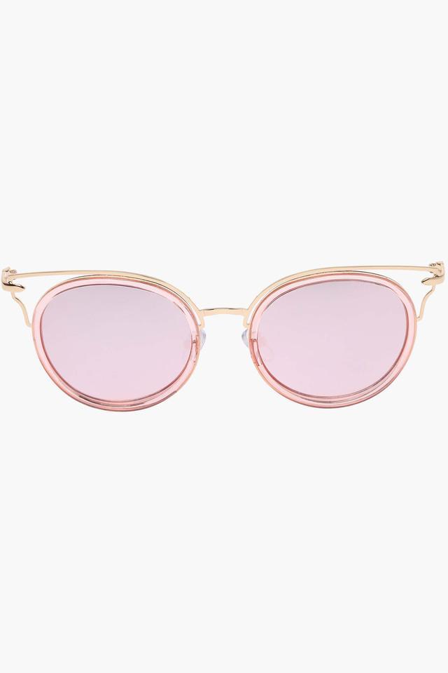 Womens Mirror Reflection Round Sunglasses LIO64C47
