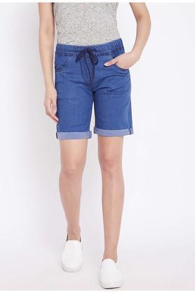 Womens 4 Pocket Rinse Wash Shorts