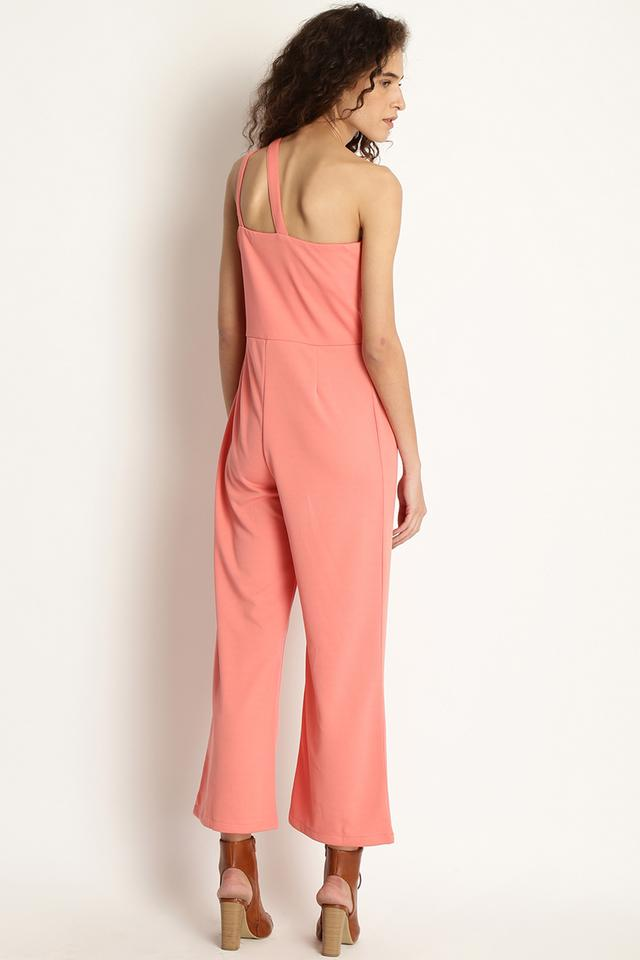 Womens Solid Casual Jumpsuit
