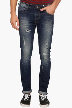 PEPEMens Super Skinny Fit Distressed 5 Pocket Jeans