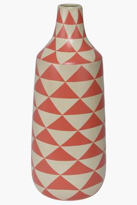 Pyramid Printed Conical Ceramic Vase - 42 cm