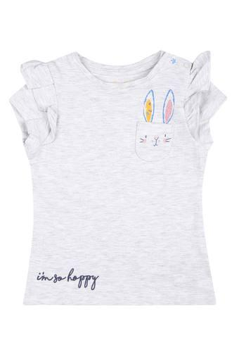 Girls Round Neck Slub Tee