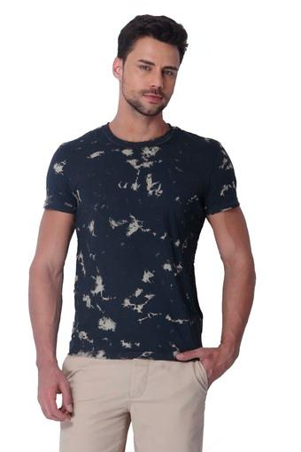Mens Slim Fit Round Neck Printed T-Shirt