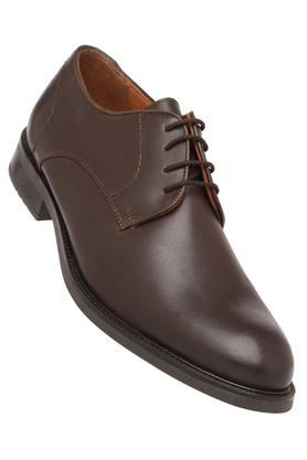 VENTURINI Mens Leather Lace Up Derbys - 204000300_9128