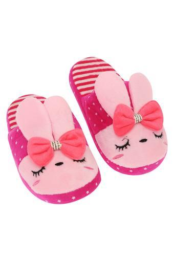Bunny Printed Bath Slippers - 32 - 33