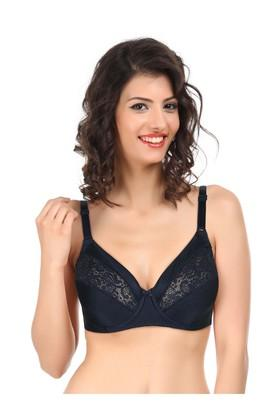 Womens Wired Padded Lace Full Coverage Bra