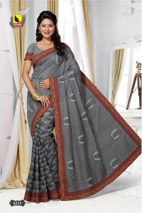 ASHIKA Womens Embroidered Saree With Blouse Piece - 204577045_8607
