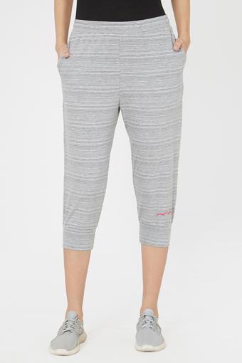 Womens Active Fit Striped Capris