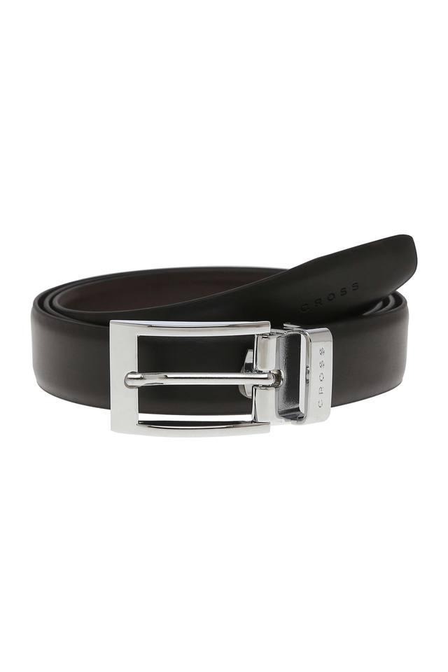 Mens Buckle Closure Formal Belt with Extra Buckle