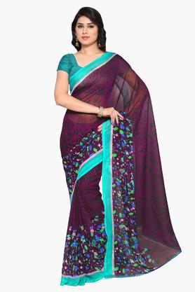 DEMARCA Womens Faux Georgette Printed Saree - 203229583