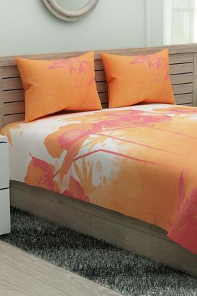 Floral Printed Single Bed Sheet with Pillow Cover