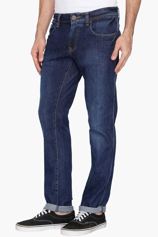 Mens Slim Fit Mild Wash Jeans