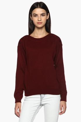 PEPEWomens Boat Neck Knitted Sweater