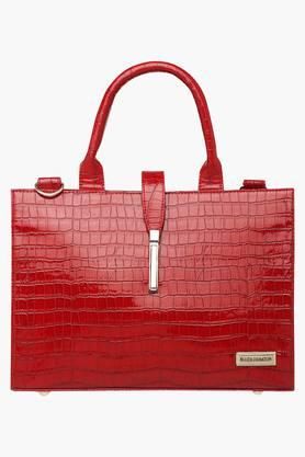ELLIZA DONATEINWomens Metallic Lock Closure Satchel Handbag - 203372152