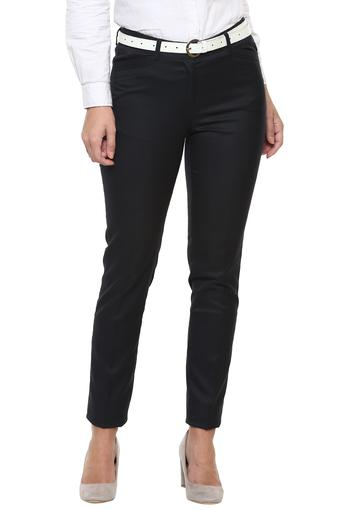 Buy Austin Reed Womens 4 Pocket Solid Formal Trousers Shoppers Stop