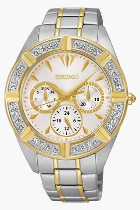 SEIKO Womens Lord Chronograph White Dial Watch - SKY676P1