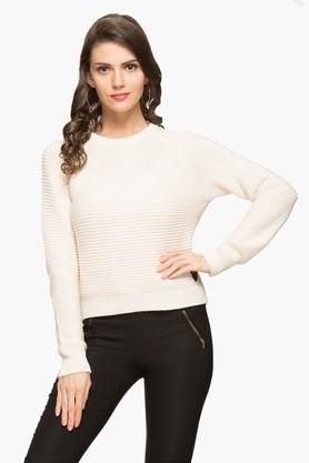 PEPE Womens Round Neck Stripe Knitted Sweater