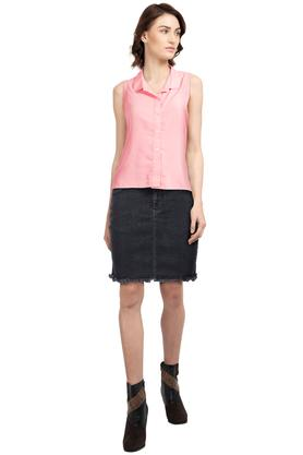 Womens 4 Pocket Washed Skirt