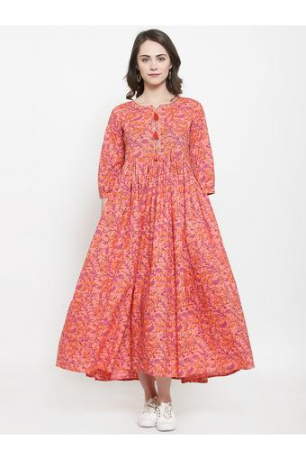 VARANGA -  Peach Dresses - Main