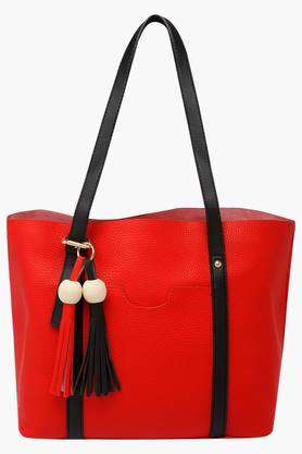 STOP Womens Zipper Closure Tote Handbag