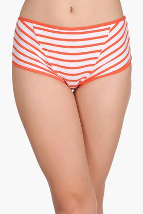 Womens High Waist Striped Hipster Briefs
