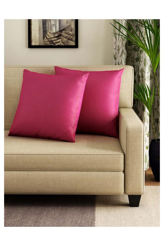 Solid Cushion Cover Set Of 2