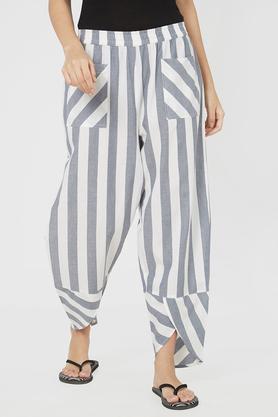 af9d30e723b7 X MYSTERE PARIS Womens Comfort Fit Striped Lounge Pants