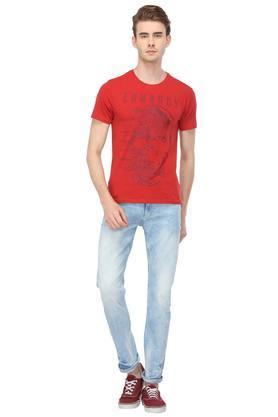 Mens Slim Fit 5 Pocket Mild Wash Jeans