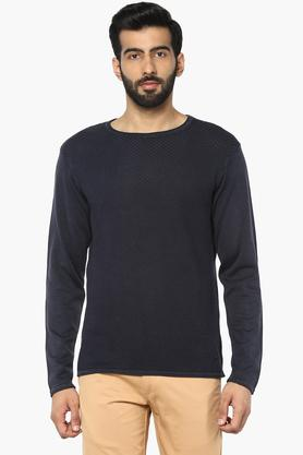 LEE COOPERMens Round Neck Solid Sweater