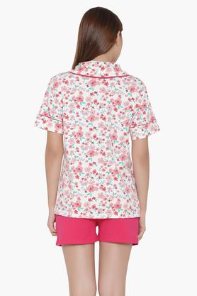 Womens Floral Print Shirt & Shorts