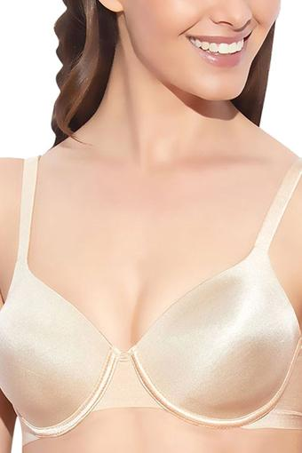 Womens Solid Padded Push Up Bra