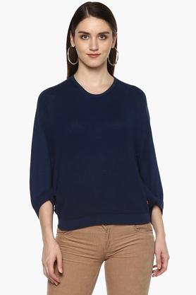 LEVIS Womens Round Neck Knitted Pattern Sweatshirt - 204242442_9309