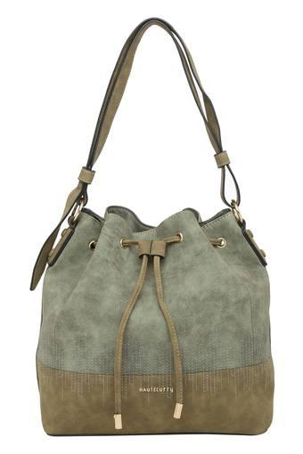 Womens Drawstring Closure Hobo Handbag