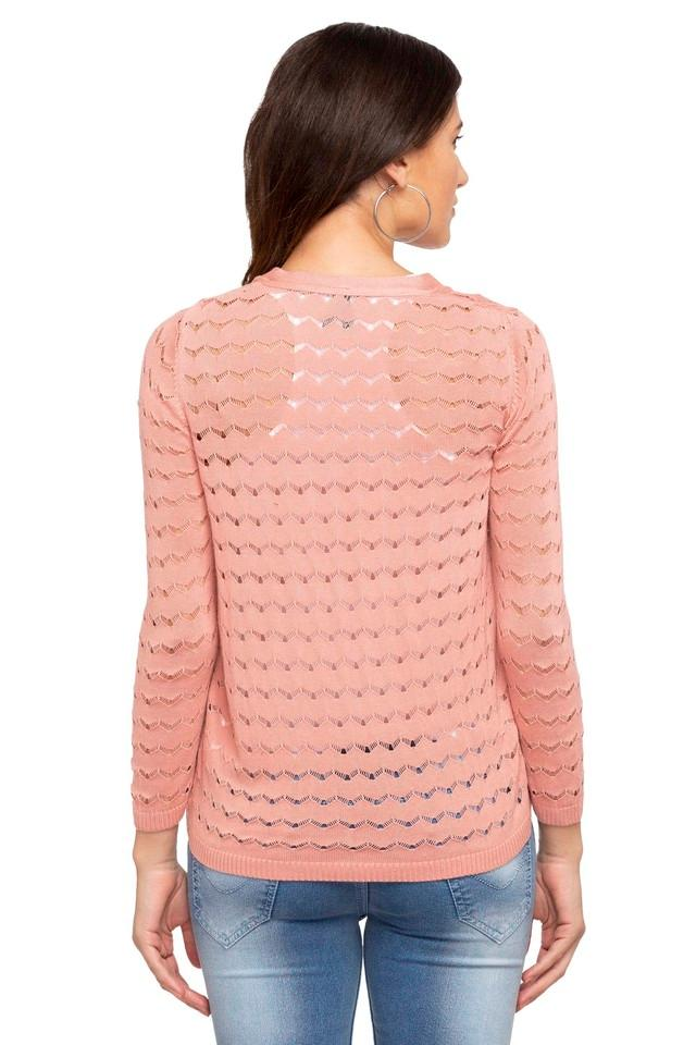 Womens Open Neck Perforated Shrug