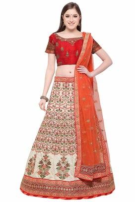 332ed16299 Buy VRITIKA Womens Two Tone Velvet Designer Lehenga Choli | Shoppers ...