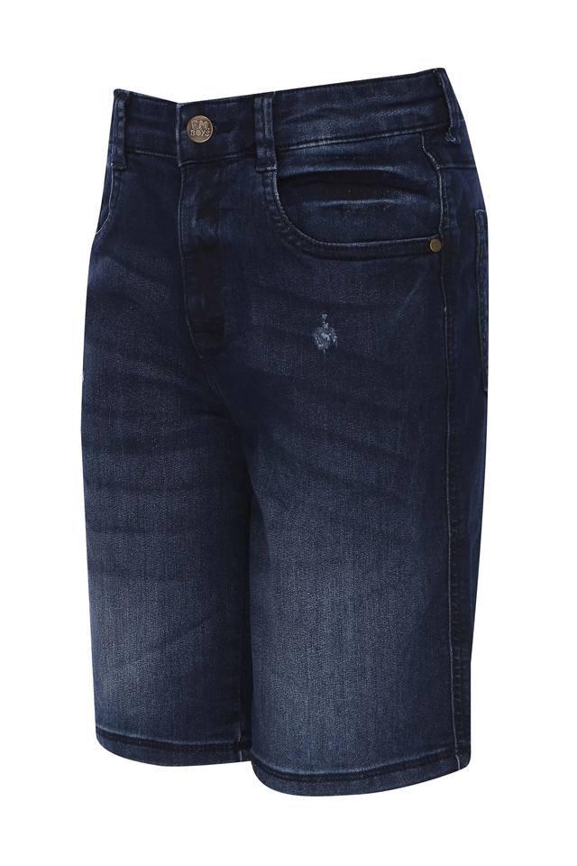 Boys 5 Pocket Whiskered Effect Shorts